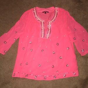 Victoria secret embellished pink top